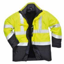 Portwest S779 Lángálló és antisztatikus jól láthatósági bélelt kabát