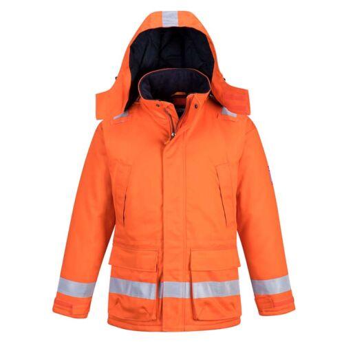 Portwest AF82 Bélelt lángálló és anisztatikus dzseki láthatósági szalagokkal