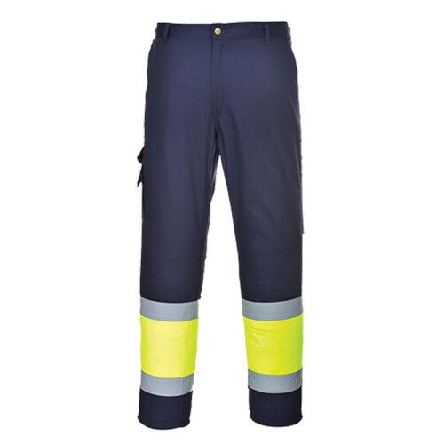 Portwest E049 Jól láthatósági munkavédelmi nadrág hosszított fazon