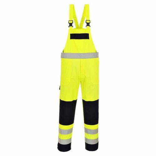 Portwest FR63 Lángálló és antisztatikus jól láthatósági kantáros nadrág