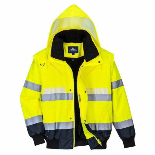 Portwest G465 utánvilágítós jól láthatósági kabát 3 az 1-ben