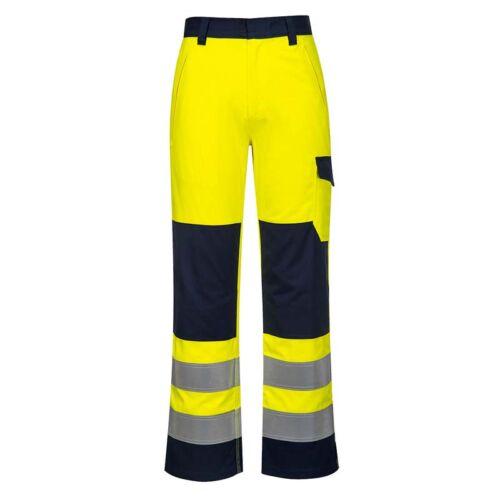Portwest MV46 jól láthatósági derekas nadrág rövid fazon