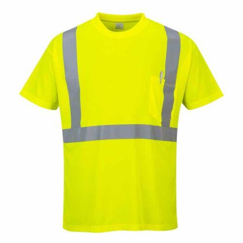 Portwest S190 jól láthatósági póló zsebbel