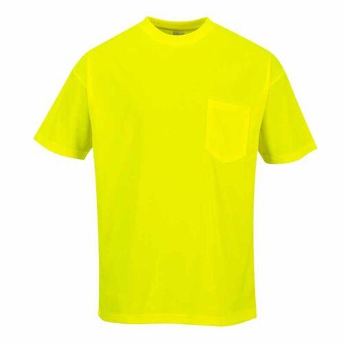 Portwest S578 Jól láthatósági rövid ujjú zsebes póló