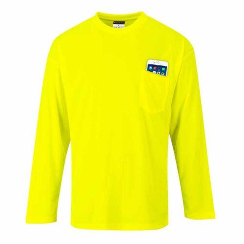 Portwest S579 jól láthatósági hosszú ujjú zsebes póló