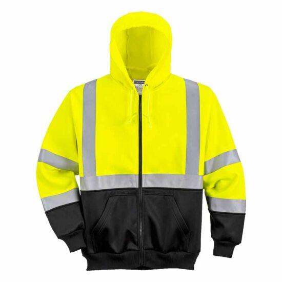 Portwest B315 jól láthatósági kapucnis pulóver
